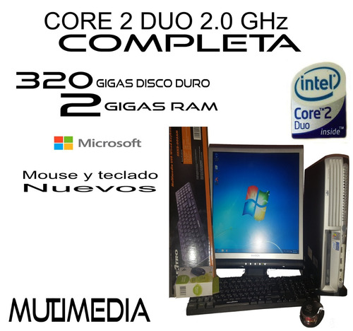 computadora dual core completa