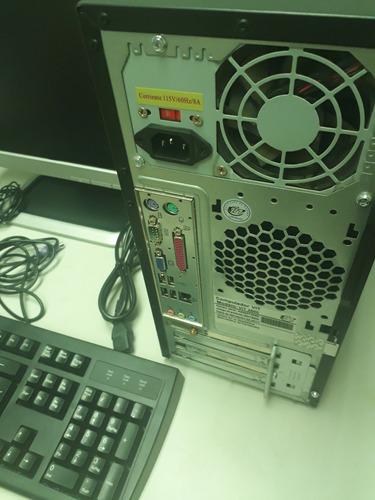 computadora dual core con monitor+teclado+mouse