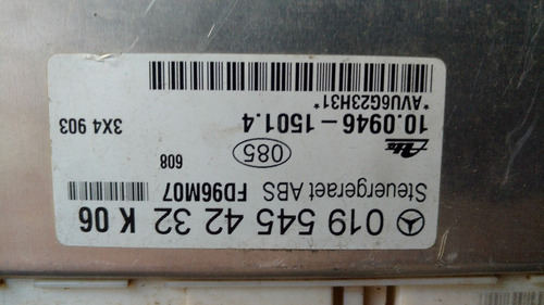 computadora ecu ecm de abs  mercedes clase c 0195454232