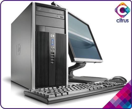 computadora hp compaq core2 duo, mon17,tec,mou, dd80gb, 2gb