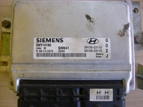 computadora hyundai tucson motor  2.0 sincronico simk41