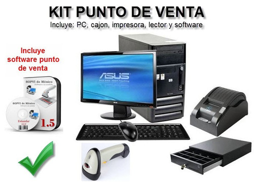 computadora intel dual +punto de venta completo-wifi
