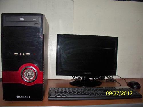 computadora marca utech con teclado hp + disco duro