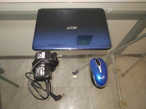 computadora mini laptop acer inspire one ratón inalámbrico
