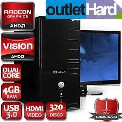 computadora nueva dual core a4 4000 4gb 1 tb dvd wi fi