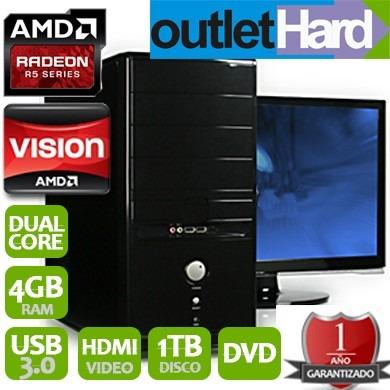 computadora pc a4 4000 nueva dual core 4gb 1tb dvdsan miguel