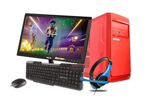 computadora pc cpu gamer amd a6 radeon 8gb 500gb monitor 21