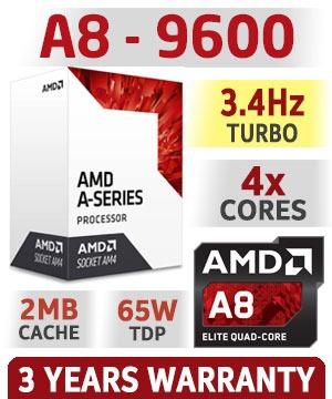 computadora pc cpu gamer amd a8 8gb ddr4 1tb radeon r7