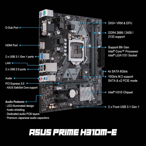 computadora pc cpu gamer i5 8gb ddr4 1tb gtx 1050 ti 80 plus