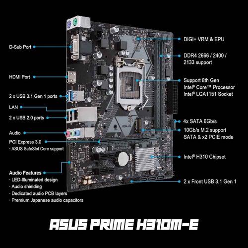 computadora pc cpu gamer intel i5 8400 500gb 8gb ddr4 8° gen
