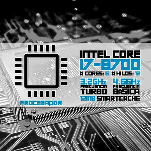computadora pc cpu gamer intel i7 ssd 120gb 16gb monitor 80+