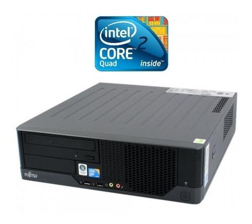 computadora pc fujitsu core 2 quad 2.66ghz, 250gb, 2gb,dvdrw