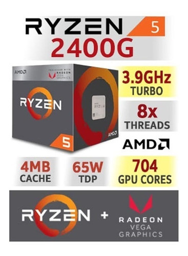 computadora pc gamer 4gb video amd ryzen 5 1tb 8gb 80+ rog