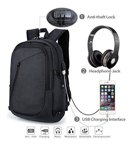 computadora portátil maletin morral bolsa viaje negocios + p