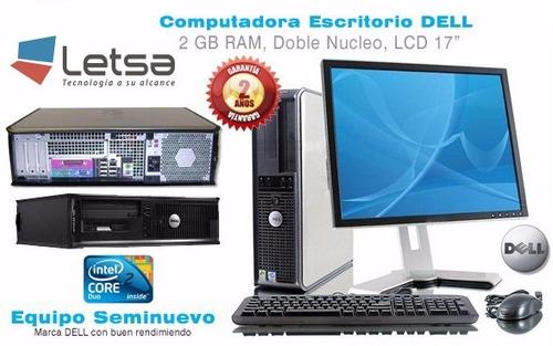 computadora rápidas,casa,cyber, oficina core 2 duo garant.