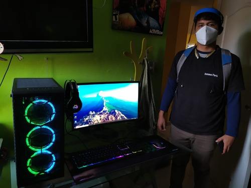 computadora ryzer 3 3200g, 8gb, ssd240gb, monitor 24  teros