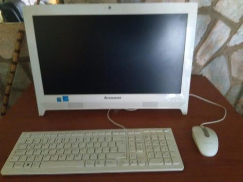 computadora todo en uno lenovo c260 color blanca 1tb intel