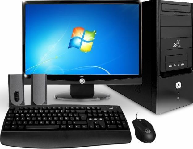 Computadora torre completa lcd 19 perifericos for Escritorio para computadora