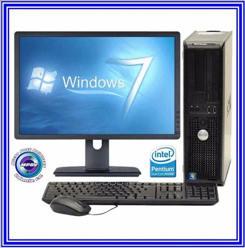 computadora usada completa dual core  4g ram 160gb d.d.