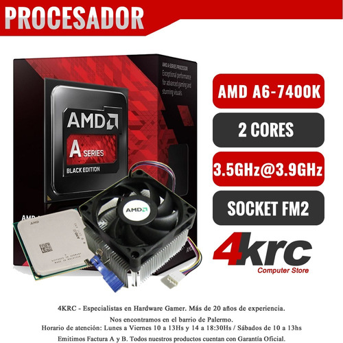 computadoras amd a6-7400 dual core 4gb ddr3 hdmi fortnite