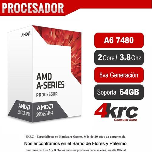 computadoras amd a6-7480 dual core 4gb ddr3 hdmi win 10 64