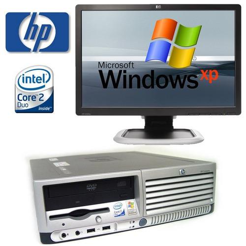 computadoras baratas hp core2duo 80gb lcd.... 4gb para ciber