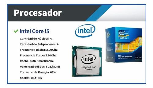 computadoras escritorio intel i5 4gb ssd - cuotas