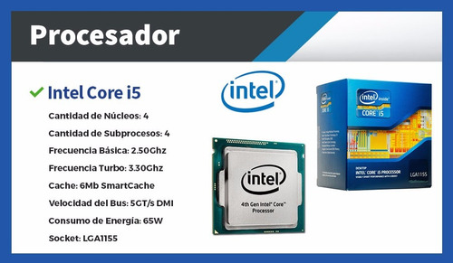 computadoras nuevas c/ monitor pc escritorio intel - i5 8gb