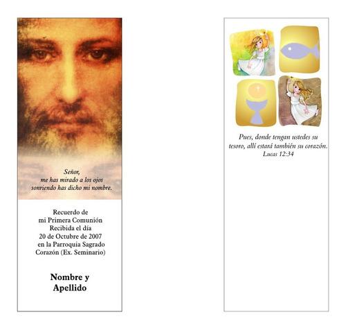 comunion bautismo estampita o marcador / 75 unidades