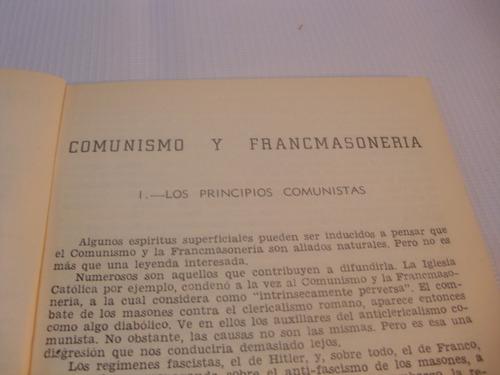 comunismo y francmasoneria. guy vinatrel. 1964