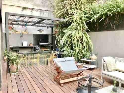 con balcón y 50 m2 de terraza