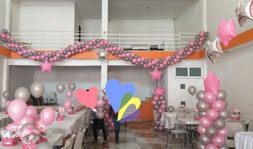 con globo decoracion eventos