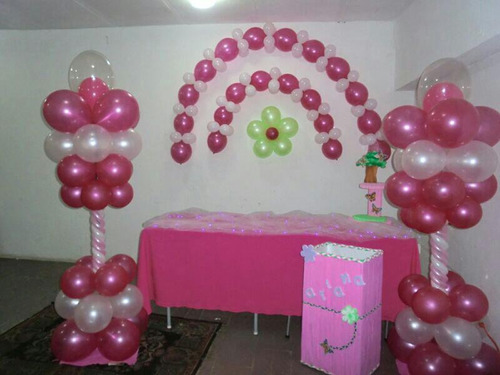 con globos decoración