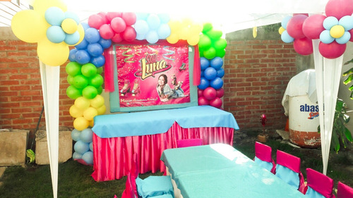 con globos, decoración