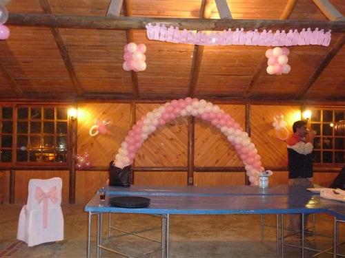 con globos, decoracion