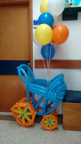 con globos, globos,