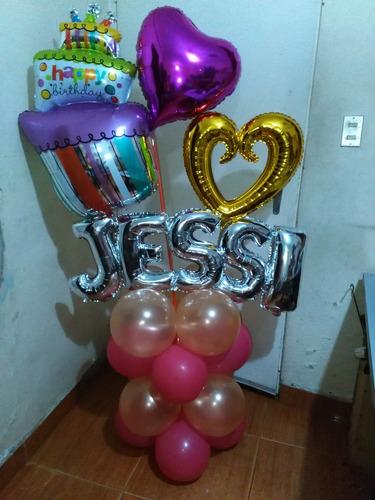 con globos globos
