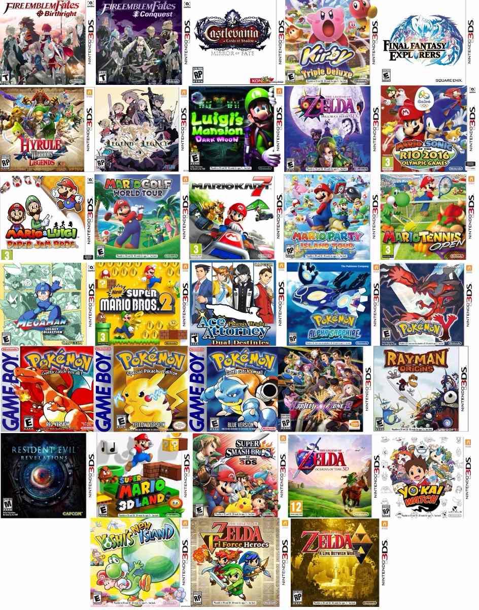 Nintendo 3dsxl Con Memoria De 32 Gb Y Juegos 4 499 00 En Mercado