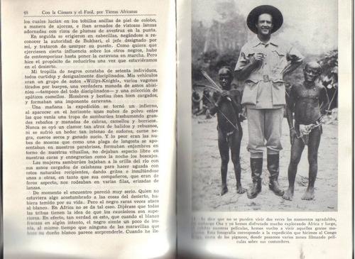 con la cámara y el fusil, por tierras africanas / johnson