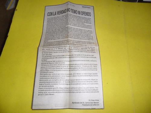 con la verdad no temo ni ofendo 1993 dr cesar arias menem