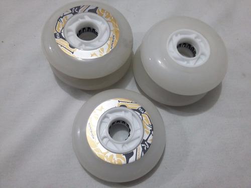 con leds blancos 4 ruedas de alta luminiscencia 80mm 85a