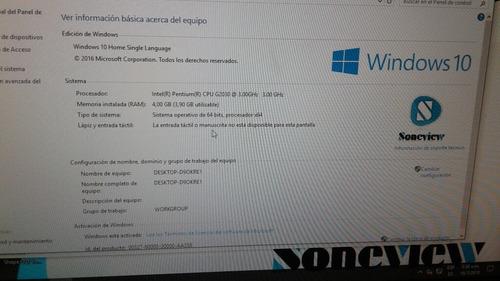 con monitor computador