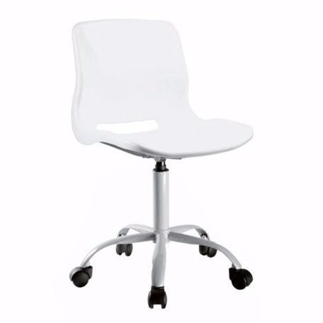 Silla Diseño Pc Escritorio Oficina Con Ruedas Verde/blanca - $ 799 ...