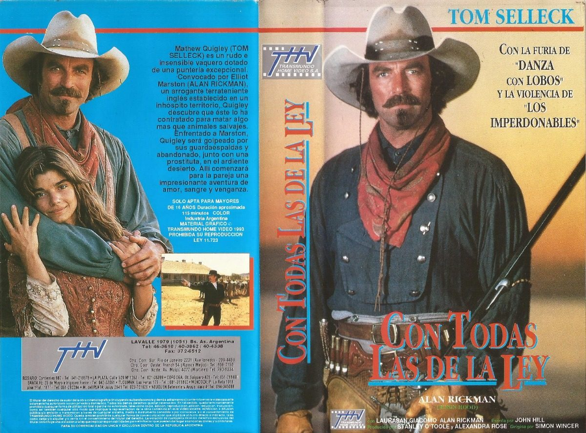 6d4d1fb76cf34 Con Todas Las De La Ley Vhs Tom Selleck Quigley Down Under -   60