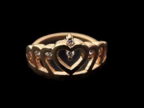 con zirconia anillo oro