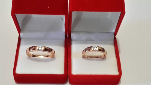con zirconia anillos oro