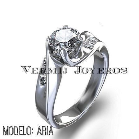24f082c2a64f anillo compromiso oro 14k con zirconias corte diamante ex · anillo oro con  zirconias · con zirconias anillo oro