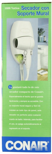 conair 1600 watt wall mount hair dryer