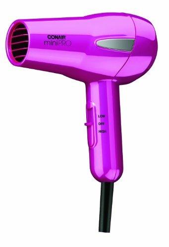 conair minipro turmalina ceramic styler / hair dryer; rosado