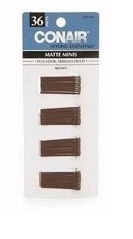 conair styling essentials mini pins, marrón